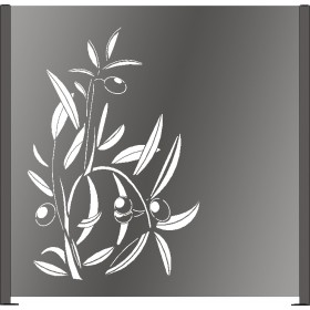 Panneau décor Olive